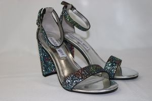 Madden Girl Beella Ankle Strap Heeled Sandals Heels Womens Claire-gblue Size 5.5 for Sale in Gardena, CA