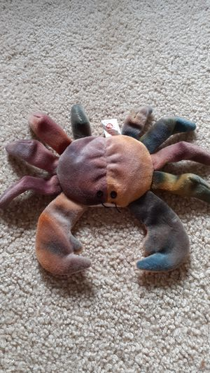 Ultra very rare TY beanie baby Claude the crab for Sale in Kent, WA