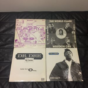 Dr. Dre & The Wreckin Cru Vinyl Record Lot of 4 for Sale in Seattle, WA