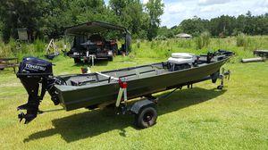 2015 Tohatsu motor and boat/trailer for Sale in Douglas, GA