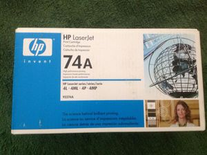 HP laserjet 4. Cartridge. 74A for Sale in Jacksonville, FL