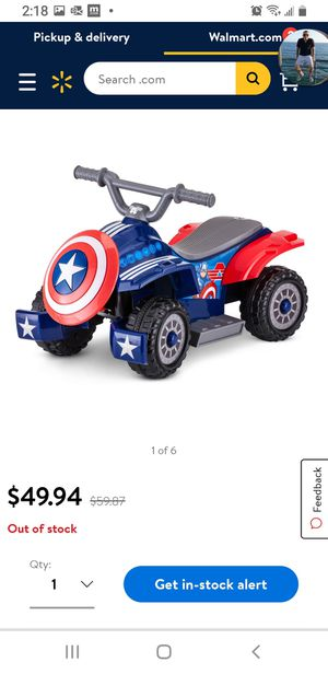 Marvel Captain America Electric Quad for Sale in Apple Valley, CA