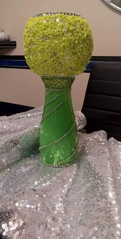 Lime Green Candle Holder for Sale in Peoria,  IL