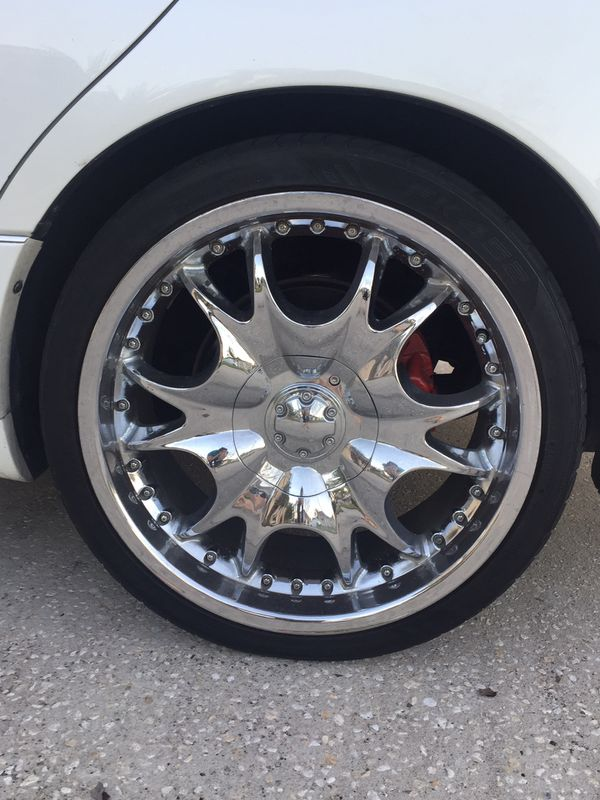"20"" Chrome Rims and Tires"