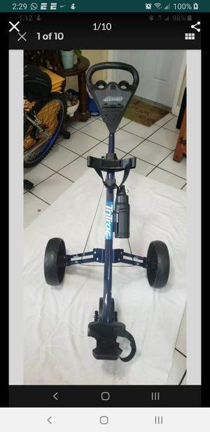 Intech Tritrac 3 Wheel Folding Golf Push Pull Cart (Like New) for Sale in Miami, FL