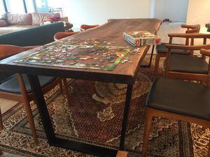 Large single slab live edge black walnut dining table for Sale in Washington, DC
