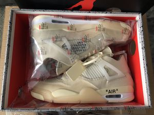 "Virgil Abloh Air Jordan 4 x Off White ""Sail"" for Sale in Strabane, PA"