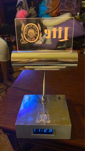Vintage miler lite Pilsner beer digital clock with light for Sale in Olivette, MO