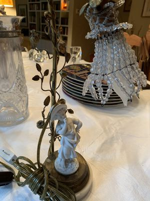 French antique brass crystal lamp for Sale in West Hollywood, CA