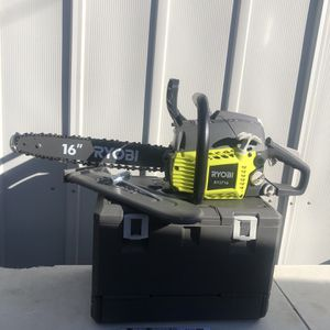 RYOBI 16 in. 37cc 2-Cycle Gas Chainsaw with Heavy-Duty Case for Sale in La Habra, CA