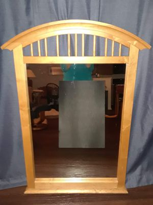 Oak mission style mirror. for Sale in Chapel Hill, NC
