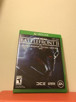 Xbox One Game Star Wars Battlefront II Elite Trooper Deluxe Edition Clean Disc for Sale in Reedley, CA
