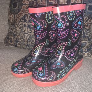 Paisley Print Steel Shank Rain Boots Girl's Sz1 for Sale in Portland, OR