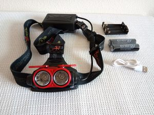 Red Rechargeable T6 2 X LED Headlight for Sale in San Diego, CA