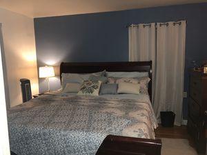wooden mahogany king size bedroom set (mattress not included) for Sale in Belleville, NJ