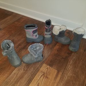 Girl's Toddler winter boots - 3 pair for Sale in Ashland, VA