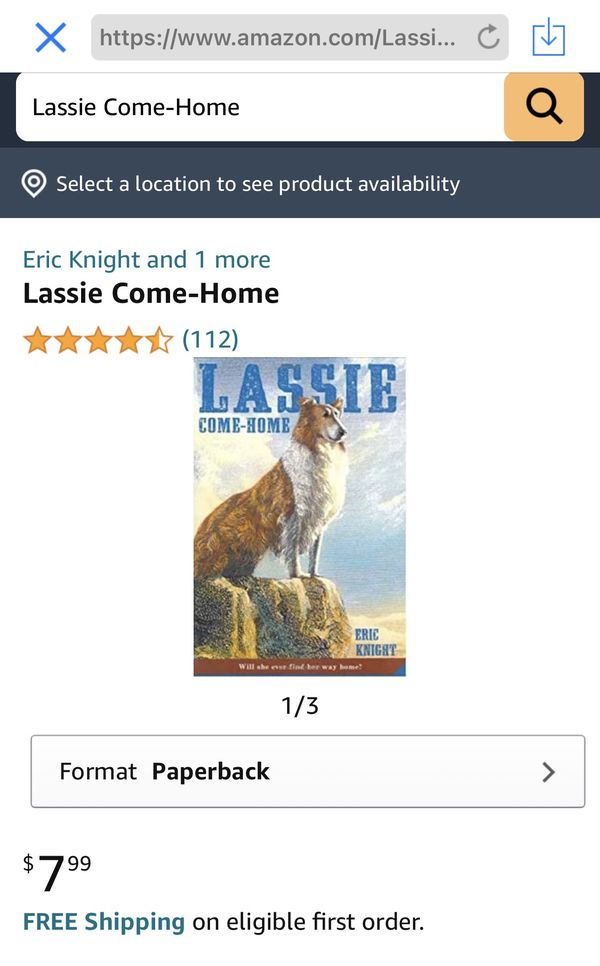 Lassie Come-Home Paperback – Illustrated, September 18, 2007
