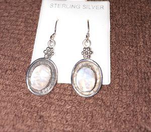 925 Sterling Silver & Moonstone Earrings for Sale in Burbank, CA