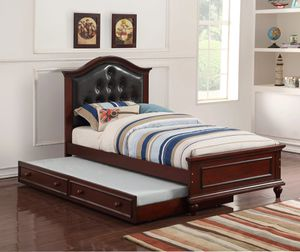 Brown Twin Bed Frame W/ Trundle ON SALE🔥 for Sale in Fresno, CA