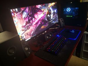 Gaming desk pc set for Sale in San Leandro, CA