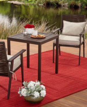 New!! Patio set, 3 pc bistro patio set, outdoor conversation set, chat set, patio furniture , brown for Sale in Phoenix, AZ