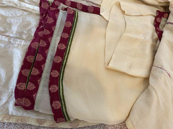 Jamawar three piece semi formal dress
