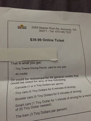 Tiny Towne tickets for Sale in Peachtree Corners, GA