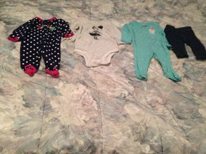 Newborn baby girl clothes 3 boxes for 15 dollars for Sale in North Port, FL