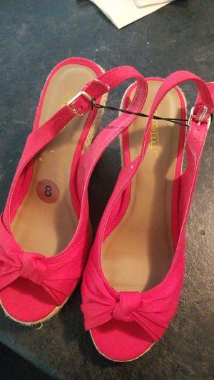 Red Wedge Heel Sandals size 8 for Sale in Nashville, TN