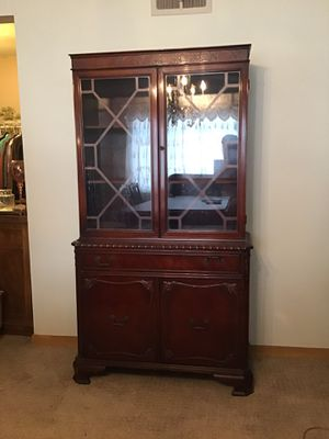 Antique Cherry China Cabinet for Sale in Detroit, MI