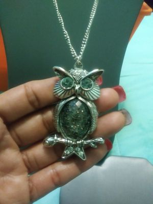 New crystal owl pendant necklace for Sale in Yonkers, NY