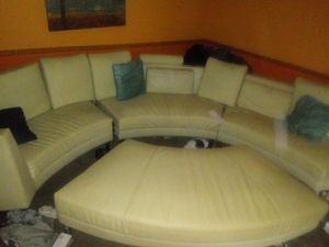 White leather couch for Sale in Harvey, IL