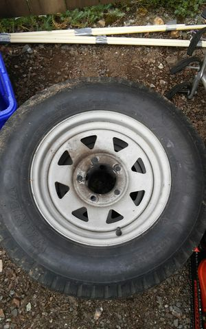 Tires and wheels for utility trailer. for Sale in Gladstone, OR