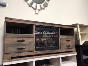 Fireplace Tv Stand, Brown, SKU# ASHW446-68TC for Sale in Santa Fe Springs, CA