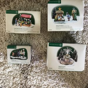 Dept 56 Christmas In The City Accessories for Sale in Los Alamitos, CA