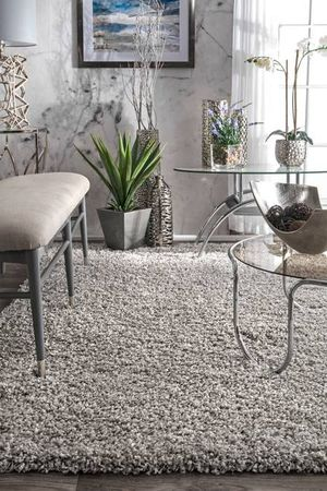 Silver Light Gray Shag Area Rug 5'3 x 7'6 for Sale in Irvine, CA