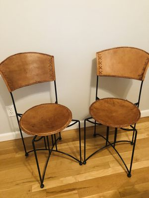 Leather cafe chairs for Sale in Littleton, CO