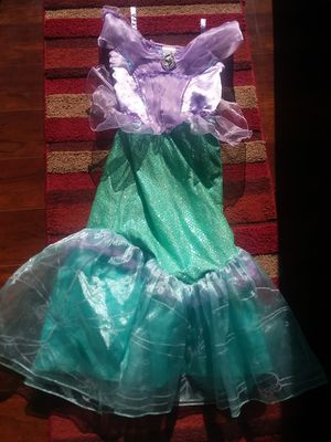 Size 7/8 Disney Store Ariel dress up costume for Sale in Virginia Beach, VA
