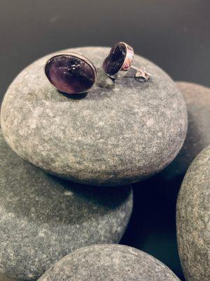 Sterling Silver Amethyst Stone Stud Earrings for Sale in Norfolk, VA