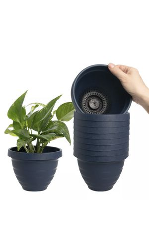 "10pk Self Watering 6"" Planters Indoor Or Outdoor Flower Pots Plastic Urn Planter for Sale in Milpitas, CA"