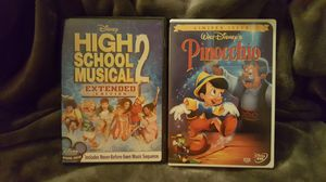 Pinocchio and High School Musical 2 DVDs for Sale in Boston, MA