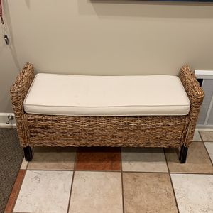 Wicker Bench for Sale in Brecksville, OH