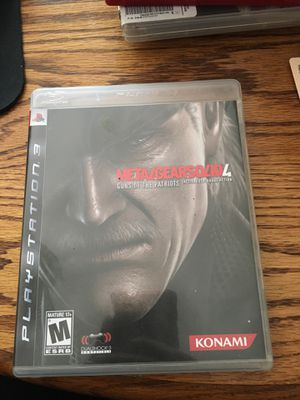 Metal Gear Solid 4 - Guns of the Patriots for PlayStation 3 for Sale in Lewis Center, OH