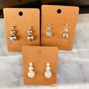 Tres pares de Aretes Set of three Pairs earrings for Sale in Fort Lauderdale, FL