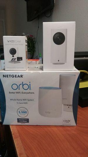 Wyze cam orbi net gear for Sale in Riverside, CA