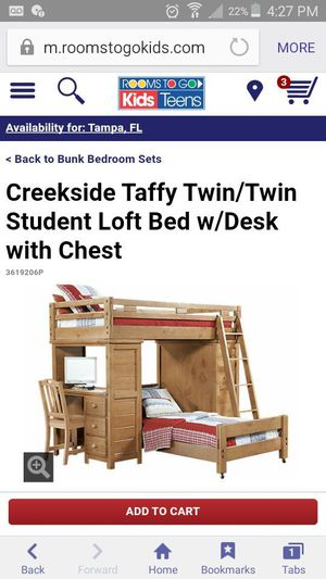 Bunk bed with two new matresses(still in plastic bags) includes ladder ( No chair) for Sale in Orlando, FL