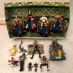 Vintage wrestling wrestle wwe wwf wrestlemania figures figurines musician metallica janis joplin homer simpson toys figures figurines classic retro for Sale in Burtonsville, MD