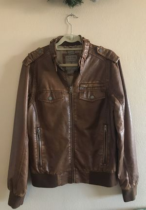 Guess brown leather bomber size medium for Sale in Denver, CO