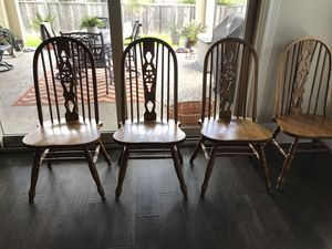 Solid Oak chairs - set of 4 for Sale in The Woodlands, TX