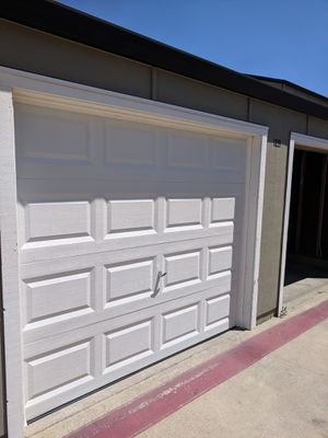 8x7 4 garage door panels green Paint any color for Sale in Concord, CA